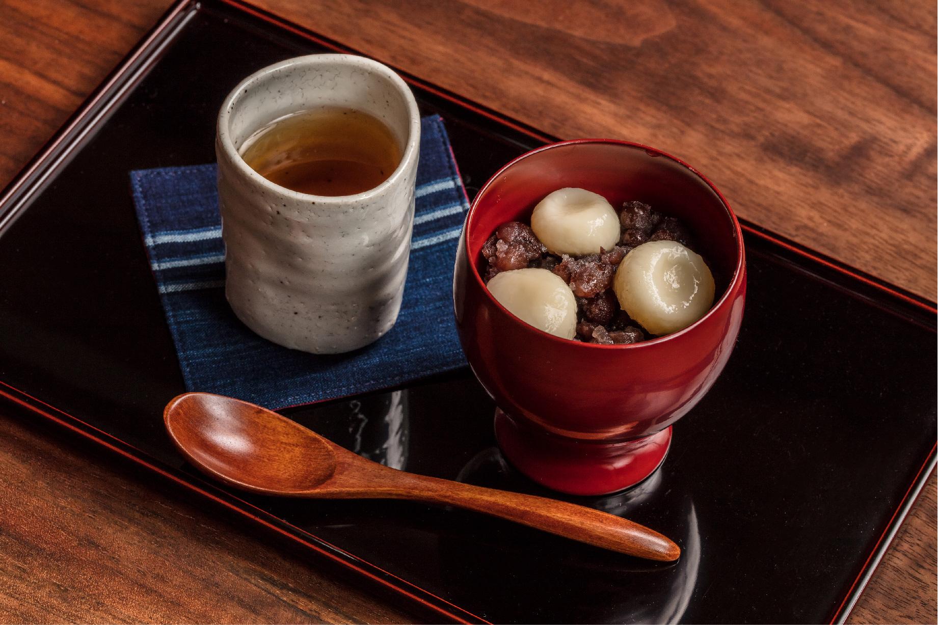 白玉あずき(季節のお菓子付)